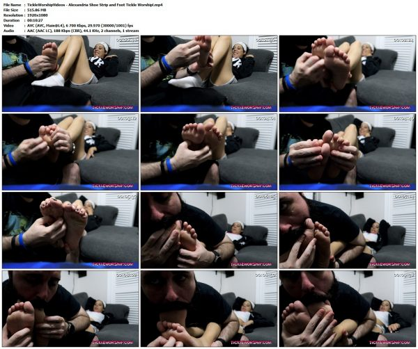 TickleWorshipVideos - Alexandria Shoe Strip and Foot Tickle Worship!TickleWorshipVideos