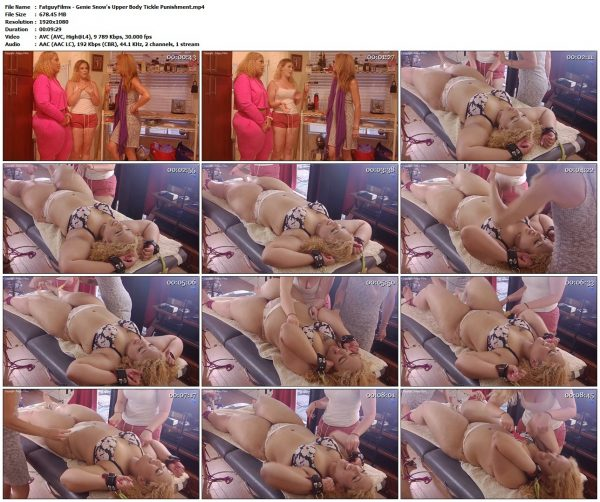 FatguyFilms - Genie Snow's Upper Body Tickle PunishmentFatguyFilms VIP Clips