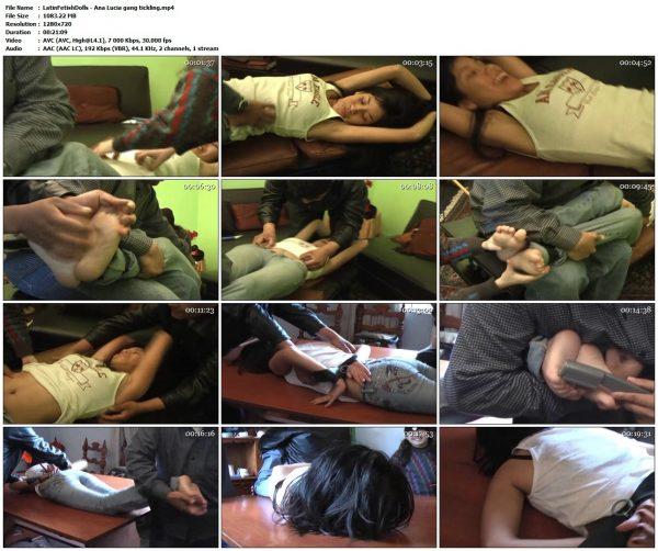 LatinFetishDolls - Ana Lucia gang ticklingLatinFetishDolls VIP Clips