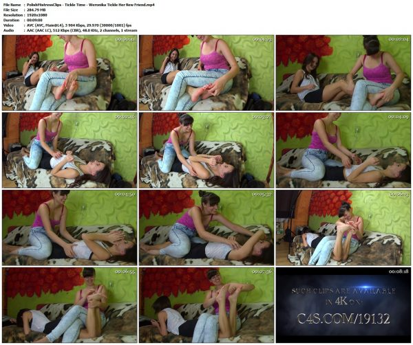 PolishMistressClips - Tickle Time - Weronika Tickle Her New FriendPolishMistressClips