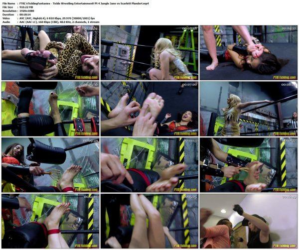 FTKL'sTicklingFantasies - Tickle Wrestling Entertainment! Pt 4 Jungle Jane vs Scarlett Plunder!FTKL'sTicklingFantasies VIP Clips