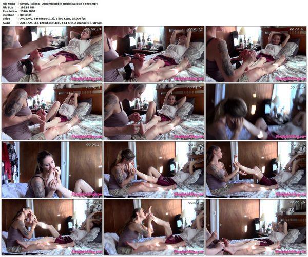 SimplyTickling - Autumn Nibble Tickles Kalesie's FeetSimplyTickling VIP Clips