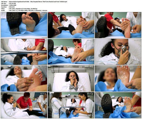 BizarreInterrogationsFootTickle - Rita Hospital Nurse Thief Gets Busted and Foot TickledBizarreInterrogationsFootTickle VIP Clips