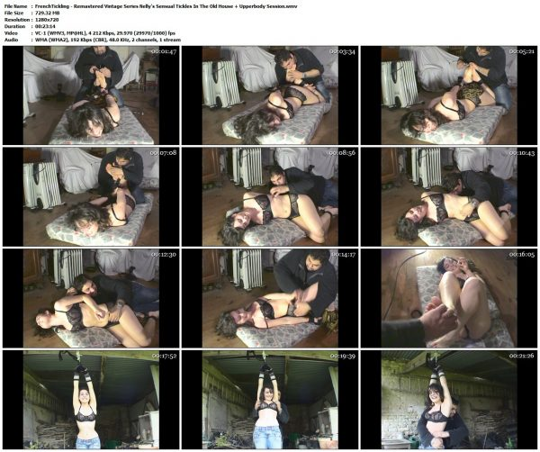 FrenchTickling - Remastered Vintage Series Nelly's Sensual Tickles In The Old House + Upperbody SessionFrenchTickling VIP Clips
