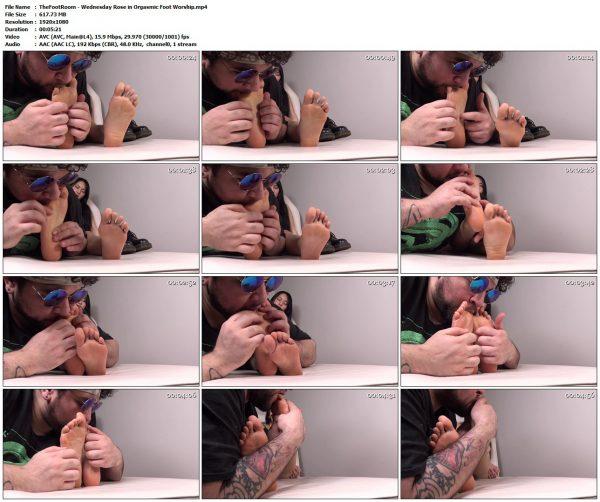 TheFootRoom - Wednesday Rose in Orgasmic Foot WorshipTheFootRoom VIP Clips