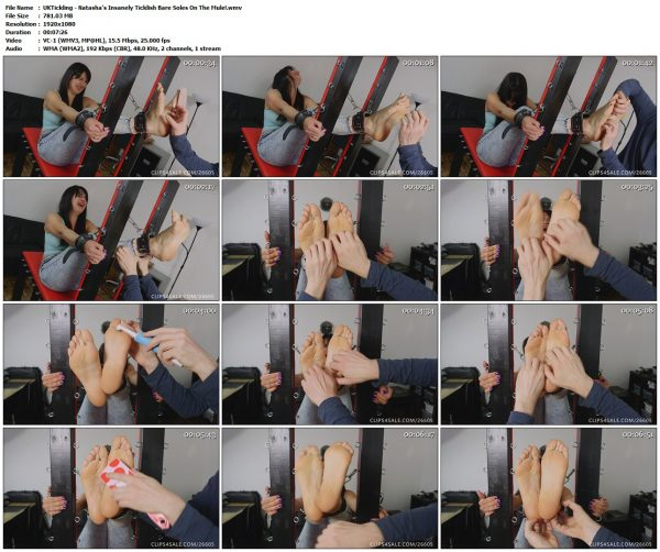 UKTickling - Natasha's Insanely Ticklish Bare Soles On The Mule!UKTickling VIP Clips